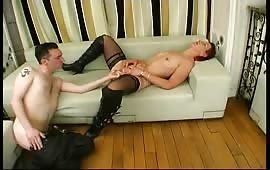 French mature slut ass fucked by young guy
