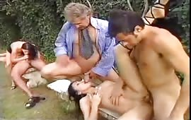 Hot orgy outdoor with Alexa May