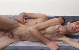 Young gay dudes anal fuck with pleasure