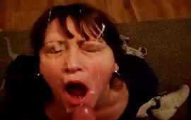 Mature whore full of cum
