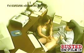 Office slut loves giving handjobs
