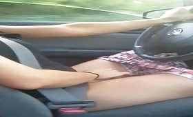 Teen masturbation in the car