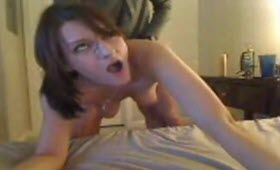 Amateur fuck in front of the camera